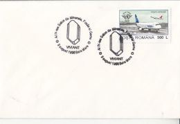 55610- VIVIANITE, MINERALS, SPECIAL POSTMARK ON COVER, PLANE STAMPS, 1998, ROMANIA - Minerales
