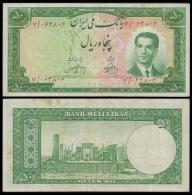 MARKAZI Bank 50 RIALS Sign.3 1951 P 56 VF - Iran