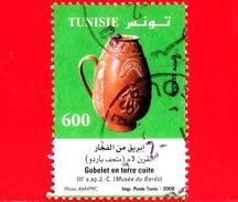 TUNISIA - Usato - 2008 - Oggetti Di Terracotta - Tazza - Egg-shaped Gobelet - 600 - Tunisia (1956-...)