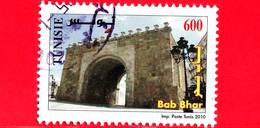 TUNISIA - Usato - 2010 - Monumenti Di Medina Di Tunisi - Bab Bhar - 600 - Tunisia (1956-...)
