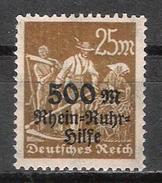 Reich N° 251A Neuf ** - Allemagne