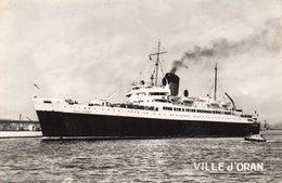 VILLE D'ORAN - Cie Générale Transatlantique - Paquebots