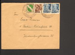 Franz.Zone Baden 1 Pfg.Wappen U.3 U.2 X 10 Pfg.Persönlichkeiten A Brief M.Ortswerbestempel Todtmoos V.1.5.48 - Französische Zone