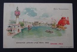 Carte Publicitaire BISCUITS LEFEVRE UTILE Grand Prix PARIS 1900 - Viaduc Austerlitz Seine - Carte Transparente - Nantes