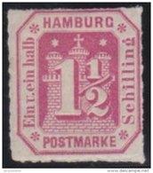 Hamburg     .    Michel    .  21         .       *    .       Ungebraucht Mit Gummi  Und  Falz - Hamburg