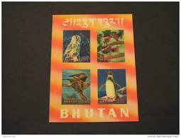 BHUTAN - 1969 BF UCCELLI Foglietto - NUOVI(++)-TEMATICHE - Bhutan