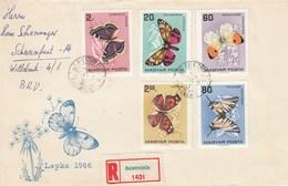 Hongrie - Année 1966 - Lettres/Papillons Divers - YT 1790/1798 - 2 Enveloppes - Hungary
