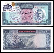 MARKAZI Bank 200 RIALS OVERPRINT STAMP ND 1971 P 92c UNC - Iran
