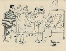 Humour (2 Scans) : Hôpital, Lit, Docteur, Infirmière, Enfant, Soupe, Bouteille, Repas, Famille, Couverts, Assiette... - Non Classés
