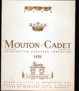 ETIQUETTE MOUTON CADET, LA BERGERIE 1970 - Bordeaux