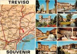 Cartolina - Treviso Vedutine Mappa 1973 - Treviso