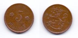 Finland 5 Pennia 1918