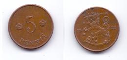 Finland 5 Pennia 1922 - Finlande