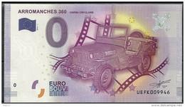 Billet Touristique 0 Euro 2016  ARROMANCHE 360 Cinéma Circulaire épuisé - Essais Privés / Non-officiels