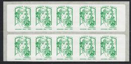 Variété: Carnet Marianne De Ciappa LV .Inscriptions Au Bas Des Timbres Défectueuses - Carnets