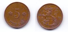 Finland 5 Pennia 1934 - Finnland