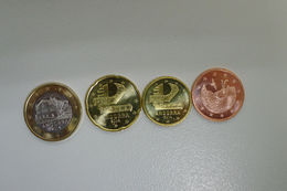 Set Euro De Andorra Andorre Kursmunzen 2014 UNC (1 €, 20c, 10c, 5c) - Andorra
