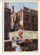 015P  Duitse Kaart Belgische Kantwerkster, Deutsche Karte Belg. Spitzenklöpperin, ZFA Düsseldorf - Craft