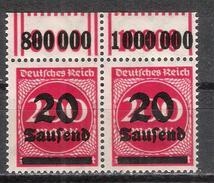 Reich Deux Variétés Se-tenant Du N° 258 Neuf ** Michel N° 282 W OR ( 2'9'2 Et 1'11'1 ) - Unused Stamps