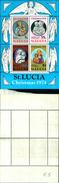 86727)    ST. Lucia SGMS 388 1974 Natale Minisheet MNH - VEDI FOTO - St.Lucia (1979-...)