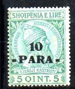 XP2169 - ALBANIA 1914 , Michel N. 42 *  Skandenberg - Albania