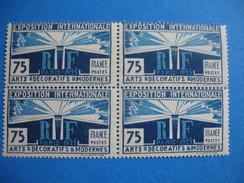 Timbres 1924 /1925     N°  215   Petit Bloc De 4    Neuf ** Gomme D'origine Côte  176   € - France