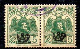 XP2179 - ALBANIA 1920 , Michel N. 77 Coppia Usata - Albania