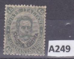 """Italia-Eritrea 1893: Francobollo Da 45c. MLH(*) Della Serie """"francobolli D'Italia Soprastampati COLONIA ERITREA"""". - Eritrea"""
