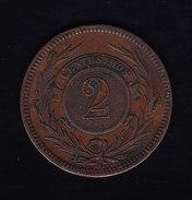 URUGUAY, KM 12, XF,  1869H, 2 Cents. (FP50) - Uruguay