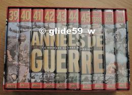"""10 K7 Vidéo """"Années De Guerre 1939-1945 - La Seconde Guerre Mondiale (PAL) - Editions Nov'édit"""" - History"""