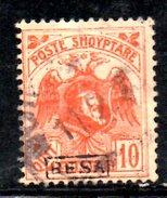XP2194 - ALBANIA 1922 , Michel N. 78 III  Usato :  BESA - Albania