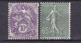A France N° 233 + 234 ** à 10% De La Côte !!! - 1903-60 Semeuse Lignée