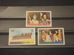 TUVALU - 1977 ANNIVERSARIO  3 VALORI - NUOVI(++) - Tuvalu