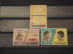 TUVALU - 1976 SEPARAZIONE  3 VALORI - NUOVI(++) - Tuvalu