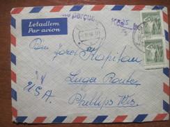 Czecoslovakia 1956 Used Cover From Besa To Phillips, WI (USA) - Czechoslovakia