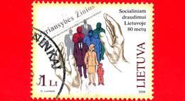 LITUANIA - LIETUVA  - Usato - 2006 - 80° Anniversario Delle Assicurazioni Sociali Lituane - Social Insurance - 1 - Lithuania