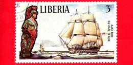 LIBERIA - Nuovo - 1972 - Velieri Famosi E Polene - Sailing Ships And Figureheads - Ajax, 1809 - 3 - Liberia