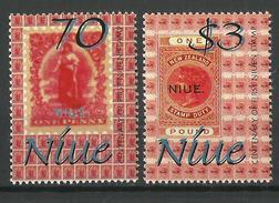 NIUE 2001 FIRST NIUEN STAMP CENTENARY,STAMP ON STAMP SET MNH