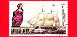LIBERIA - Nuovo - 1972 - Velieri Famosi E Polene - Sailing Ships And Figureheads - Ariadne, 1816 - 7 - Liberia