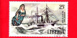 LIBERIA - Nuovo - 1972 - Velieri Famosi E Polene - Sailing Ships And Figureheads - Nymphe, 1888 - 20 - Liberia