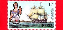 LIBERIA - Nuovo - 1972 - Velieri Famosi E Polene - Sailing Ships And Figureheads - Royal Adelaide, 1828 - 15 - Liberia