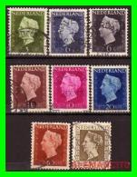NETHERLANDS  (  PAISES BAJOS  )  HOLANDA  Sellos Año 1947-48   Queen Wilhelmina - Usados