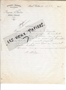 88 - Vosges - MENIL-THILLOT - Facture STUDER - épicerie - Mercerie - Boulangerie - 1915 - REF 59B - France