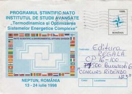 A138  NATO SCIENTIFIC & ENVIROMENTAL AFFAIRS DIVISION 1998 NEPTUN, COVER STATIONERY 1998 ROMANIA.