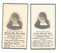 Z 64. E.MOEDER MARIA ALOYSIUS - Algemene Overste Der Rel. Urselienen Bisdom LUIK - °TILBURG (Nl.)1852 / +OVERPELT 1926 - Images Religieuses