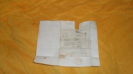 DEVANT DE LETTRE ANCIENNE DATE ?. / ORLEANS A PARIS. / CACHET ROUGE + MARQUE ORLEANS - Marcophilie (Lettres)