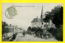 *** SAINT-PIERRE-LA-BRUYÈRE *** Grande-Rue Et Eglise *** 1906 - Non Classés