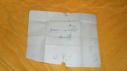 LETTRE ANCIENNE DE 1848 A ETUDIER. / PARIS A MARSEILLE. / CACHETS DONT BLEU + TAXE BLEU. - 1801-1848: Precursors XIX