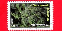 FRANCIA - Usato - 2012 - Coltivazione Di Vegetali - Verdure - Ortaggi - Broccoli - Chou Brocoli - 20 G - France