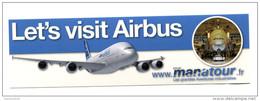 """Sticker Autocollant """"Let´s Visit Airbus"""" Ateliers De Toulouse - Aviation - Avion - Aufkleber"""